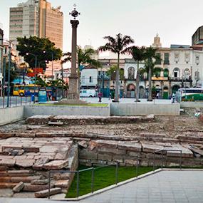 Cais do Valongo, região portuária do Rio de Janeiro.
